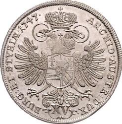 Münze > 15Kreuzer, 1748-1750 - Österreich   (kleines Wappen von Tirol in der Mitte) - reverse