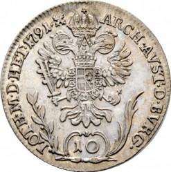 Монета > 10кройцера, 1790-1792 - Австрия  - reverse