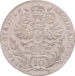Coin > 10kreuzer, 1770-1780 - Austria  (Maria Theresa - Hall in Tirol) - reverse