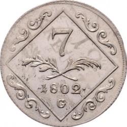 Монета > 7кройцера, 1802 - Австрия  - reverse