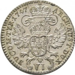 سکه > 6 کرویزر, 1747 - اتریش   (Maria Theresa - Tyrolean eagle with arms) - reverse