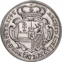 سکه > 6کرویزر, 1743-1745 - اتریش   - reverse