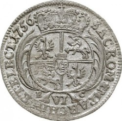 Münze > 6Groszy, 1753-1756 - Polen  - reverse