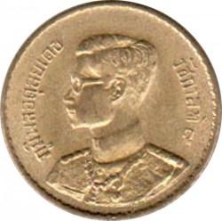 Coin > 10satang, 1950 - Thailand  (Aluminium-Bronze /yellow color/) - obverse