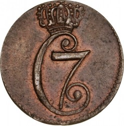 Münze > ⅙Skilling, 1771 - Dänemark   - obverse