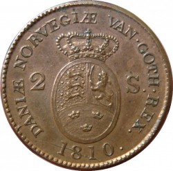 錢幣 > 2斯基林, 1810-1811 - 丹麥王國  - reverse