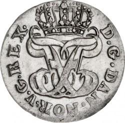 Münze > 2Schilling, 1750-1761 - Dänemark   - obverse