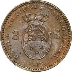 錢幣 > 3斯基林, 1812 - 丹麥王國  - reverse
