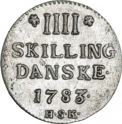 錢幣 > 4斯基林, 1783 - 丹麥王國  - reverse