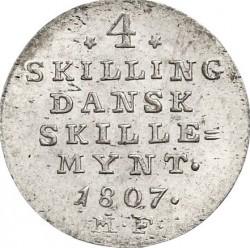 錢幣 > 4斯基林, 1807 - 丹麥王國  - reverse
