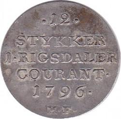 錢幣 > 1/15speciedaler, 1796-1799 - 丹麥王國  - reverse