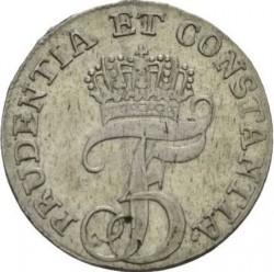 """錢幣 > 8斯基林, 1763 - 丹麥王國  (Monogramm """"F5"""") - obverse"""