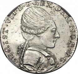 錢幣 > ½克朗, 1771 - 丹麥王國  - obverse