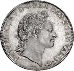 """錢幣 > 1斯貝代勒, 1764 - 丹麥王國  (Initials Under the Portrait """"IHW"""") - obverse"""