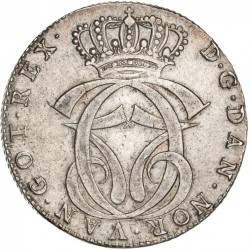 錢幣 > 1斯貝代勒, 1769 - 丹麥王國  - obverse