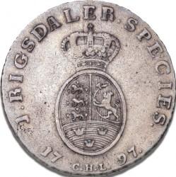Münze > 1Speciesdaler, 1795-1801 - Dänemark   - reverse