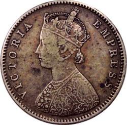 Münze > ½Rupie, 1877-1899 - Britisch-Indien  - obverse