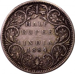 Münze > ½Rupie, 1877-1899 - Britisch-Indien  - reverse