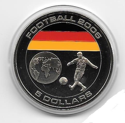 5 Dollar 2005 Fussball Weltmeisterschaft 2006 Deutschland