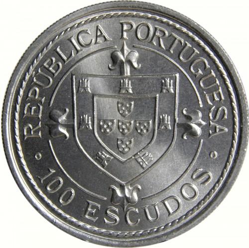 PORTUGAL 100 ESCUDOS NUNO TRISTÃO 1987 UNC