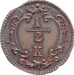Minca > ½grajciara, 1760-1764 - Rakúsko  - reverse