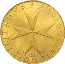 Νόμισμα > 10Σκούδα, 1961 - Κυρίαρχο Στρατιωτικό Τάγμα της Μάλτας  - obverse