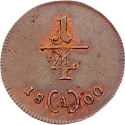 سکه > ¼کرویزر, 1800 - اتریش   - reverse