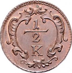 Монета > ½крейцера, 1760-1764 - Австрія  - reverse