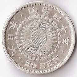 Monēta > 20senu, 1906-1911 - Japāna  - obverse