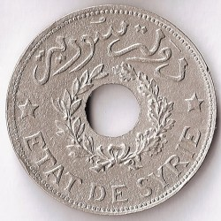 Coin > 1piastre, 1929-1936 - Syria  - obverse