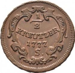 Münze > ½Kreuzer, 1772-1779 - Österreich   - reverse