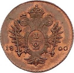 سکه > ½کرویزر, 1800 - اتریش   - reverse