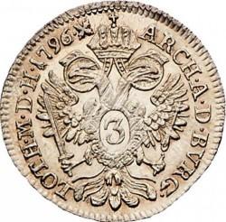 Монета > 3крейцера, 1792-1799 - Австрия  - reverse