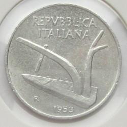 سکه > 10لیره, 1953 - ایتالیا  - reverse