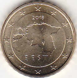 Moneda > 10céntimos, 2018 - Estonia  - reverse