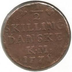 Münze > ⅙Skilling, 1771 - Dänemark   - reverse