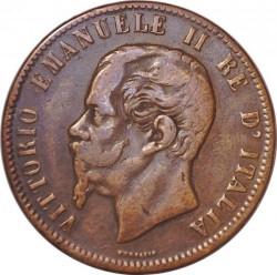 Moneda > 10centesimi, 1863 - Itàlia  - obverse