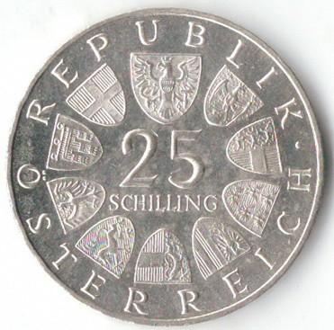 25 Schilling 1966 Ferdinand Raimund österreich Münzen Wert