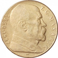 Moneta > 10corone, 1990-1993 - Cecoslovacchia  (Tomáš Masaryk) - obverse