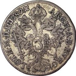 Монета > 3крейцера, 1782-1790 - Австрія  - reverse