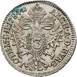 سکه > 3کرویزر, 1782-1790 - اتریش   - reverse