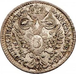 Монета > 3кройцера, 1780-1784 - Австрия  - reverse