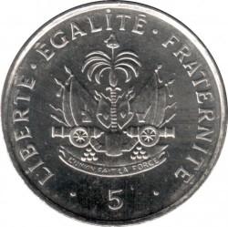 Монета > 5сантимів, 1995 - Гаїті  - reverse