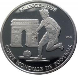 Moneta > 1000franchi, 2002 - Chad  (Coppa del Mondo FIFA, Francia 1998) - obverse