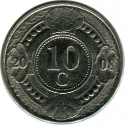 Moneda > 10centavos, 2008 - Antillas Holandesas  - obverse