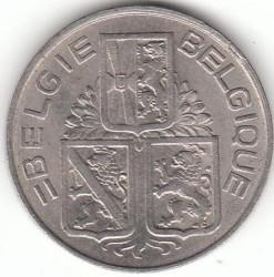 "Minca > 1franc, 1939-1940 - Belgicko  (Nadpis - ""BELGIE-BELGIQUE"") - obverse"