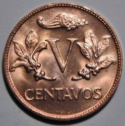 Coin > 5centavos, 1967-1979 - Colombia  - reverse