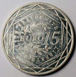 Moneda > 15euros, 2008 - Francia  (Sembradora) - reverse
