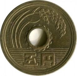 Coin > 5yen, 1993 - Japan  - obverse