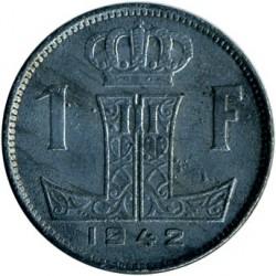 錢幣 > 1法郎, 1942-1947 - 比利時  (Legend - 'BELGIE - BELGIQUE') - reverse